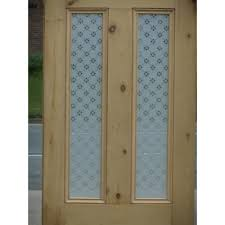 ed011 victorian 4 panel etched glass door with fleur glass design
