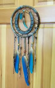 Are Dream Catchers Bad Luck Amazing Horseshoe Dreamcatcher With Turquoise Macaw Feathers And Beads