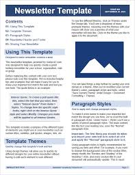 Newsletters Templates Free Newsletter Templates For Word