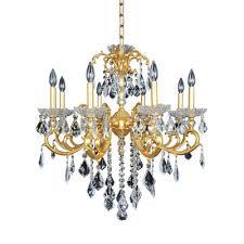 praetorius 8 light crystal chandelier finish french gold 24k crystal firenze clear