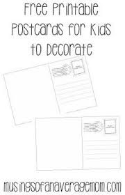 Draw Your Own Postcard | Coloring Pages & Free Printables ...