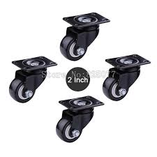 industrial furniture wheels. Large Size 2 Inch Load 50KG/PCS PU Casters Mute Wheel For Sofa, Furniture Industrial Wheels