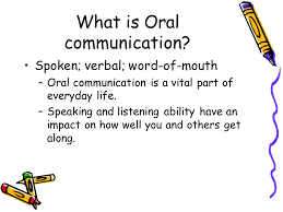 oral communication skills essay