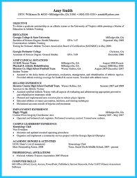 Athletic Training Resume Cool Writing Your Athletic Training Resume Carefully Check More At 12