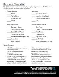 Resume Checklist for Finance Professionals - With over 25 years of  recruiting in the Finance industry