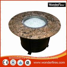 china gas fire pit table marble top round outdoor propane fireplace patio furniture