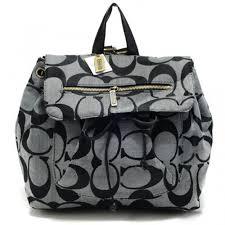 Coach Classic In Signature Medium Grey Backpacks 217