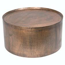 bar tables top round hammered copper coffee table home design drum hom