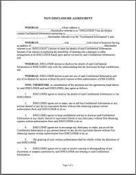 Standard Nda Agreement Template Printable Sample Non Disclosure Agreement Sample Form In