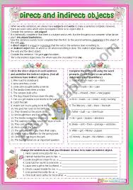 You will find all levels of phonics printable worksheets. Direct And Indirect Objects Esl Worksheet By Maiagarri