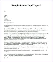 Sponsorship Letter Template Cover Manager – Ffshop Inspiration