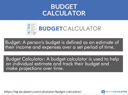 Budget Online Monthly Budget Calculator Online Budget Calculator