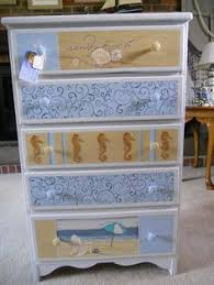 sea themed furniture. Hand Painted Beach Themed. Sea Themed Furniture L