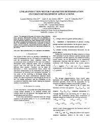 pdf a linear induction motor parameter determination method
