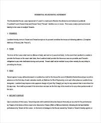house rental agreement sample 18 house rental agreement templates doc pdf free