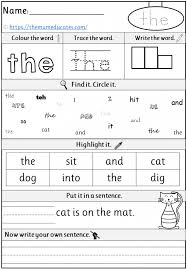 A collection of english esl worksheets for home learning, online practice, distance learning and english classes to teach about phonics, phonics. Free Phase 2 Tricky Words Worksheets Reception Early Years The Mum Educates