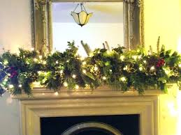 Front Door Garland Around How To Hang Putting Fireplace Ideas Lights