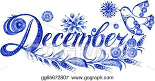 Vector Illustration December The Name Of The Month Eps Clipart