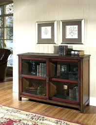 wood bookcase with glass doors brown wooden bookshelf double sliding plus short legs on the flooring short bookcase with doors