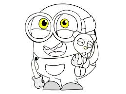 Small Picture Coloring Pages Of Minions Coloring Home