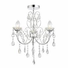 tabby 3 light bathroom chandelier ip44 home