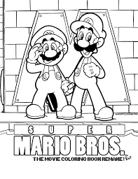 Deviant Super Mario Bros Coloring Pages Dejachthoorn