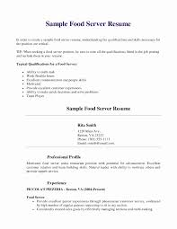 Resume Sample For Restaurant Server Resume Examples For Restaurant Server Unique Restaurant Resume 13