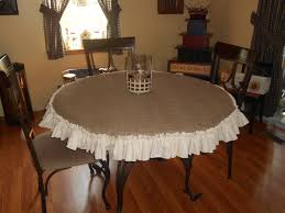 Table Cloth For Round Table How To Make A Burlap Tablecloth Ebay