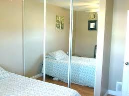 closet mirror door track sliding wardrobe doors mirrored replacement