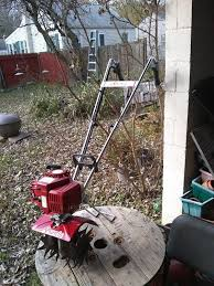 mantis garden tiller mini rototiller 7225 02 03 look and runs great two stroke