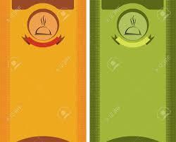 Menu Card Template Menu Card Design Template Vector Art