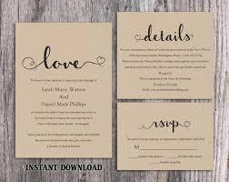 Diy Invitation Template Diy Burlap Wedding Invitation Template Set Editable Word