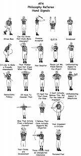Baseball Signals Chart Philosophy Referee Hand Signals Open Culture