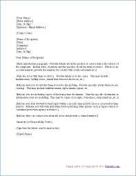 awesome collection of how to write a business complaint letter for   best solutions of how to write a business complaint letter on