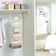 folding wardrobe clothes storage rack hooks home plastic closet shelves hanging racks closetmaid wire