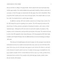 Apa Short Paper Format Example Essay Writing Sample Style Fo