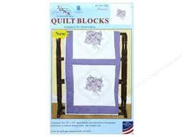 Jack Dempsey 18 in. Quilt Blocks 6 pc. -- CreateForLess & Jack Dempsey Quilt Block 18 in. White Pansies 6 pc Adamdwight.com