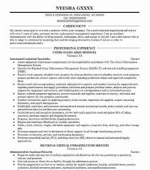 92a Resume Automated Logistical Specialist 92a Resume Example United