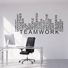teamwork office wallpaper. WXDUUZ Vinyl Wall Decal Teamwork Words Business Office Decor Stickers Kitchen Living Room Sticker Wallpaper M