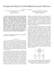 Acoustic Silencer Design Pdf Design And Analysis Of Broadband Acoustic Silencers