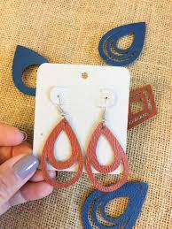 leather earrings leather feather earrings leather earrings diy free svg files for silhouette