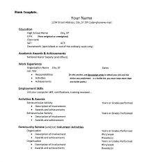Extracurricular Activities In Resumes Elegant High School Extracurricular Activities Resume