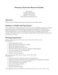 Resume Pharmacy Technician Gyomorgyuru Adorable Objective On Resume For Pharmacy Technician