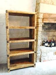 industrial style reclaimed wood and metal shelving unit living room units storage wall industr shelf for living room