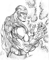 Thanos mad with power by ram robertmarzullo on deviantart marvel coloring pages