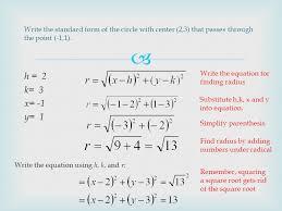 equation of a circle with radius 7 tessshlo