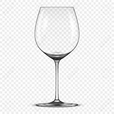 Glass Template Vector Realistic Empty Wine Glass Icon Isolated On Transparent