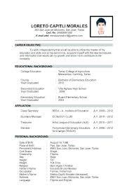 Resume Personal Wikirian Com