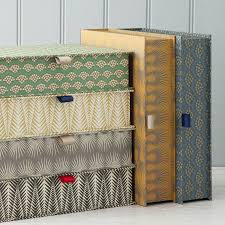 Decorative Filing Boxes Colourful patterned boxfiles individually handmade to order here 13
