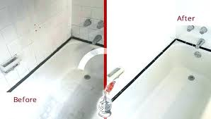 re caulk shower caulking shower door caulking shower before and after picture of a tile cleaning